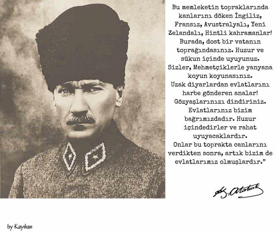 Hümanizm & Çanakkale Savaşı & Gazi Mustafa Kemal Atatürk